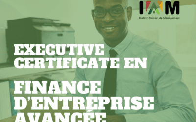 EXECUTIVE CERTIFICATE EN  FINANCE D'ENTREPRISE  AVANCÉE